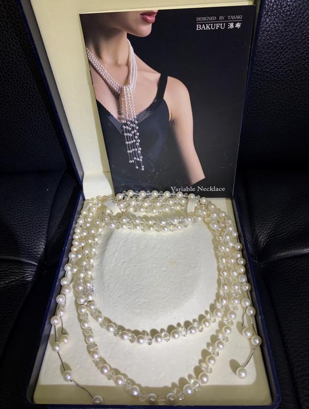 TASAKI水晶珍珠瀑布項鍊(已售出) 1